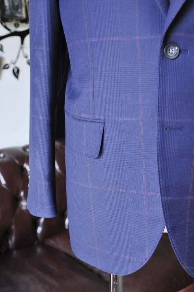 DSC0621-4 お客様のスーツの紹介-Biellesiネイビーチェックスーツ-