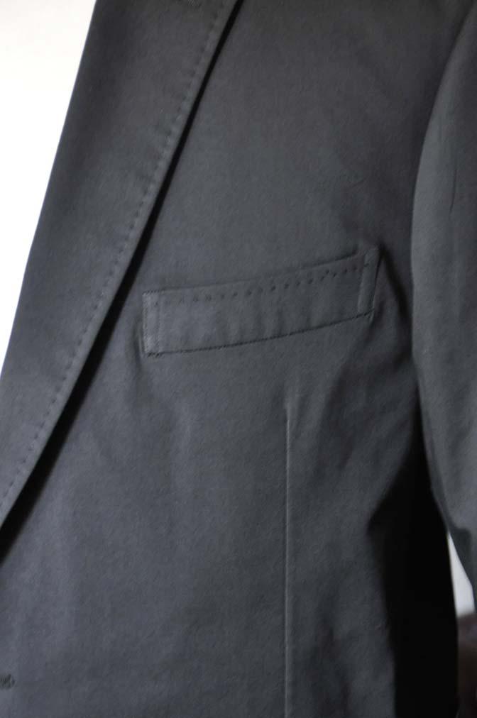 DSC0624-3 お客様のカジュアルスーツの紹介-LARUSMIANI ブラック コットンセットアップ- 名古屋の完全予約制オーダースーツ専門店DEFFERT
