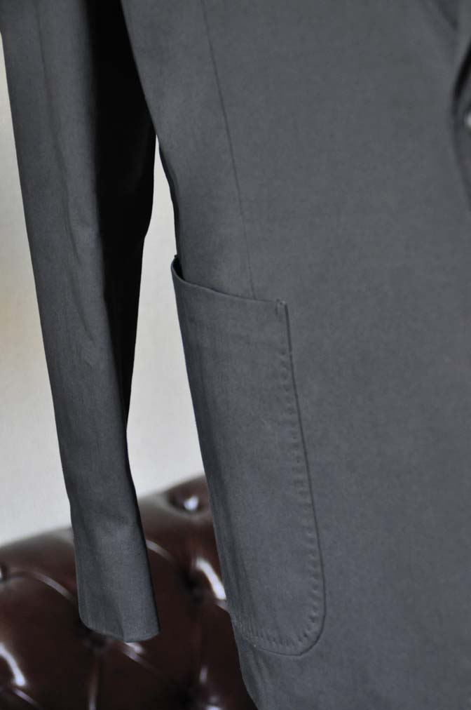 DSC0626-2 お客様のカジュアルスーツの紹介-LARUSMIANI ブラック コットンセットアップ- 名古屋の完全予約制オーダースーツ専門店DEFFERT