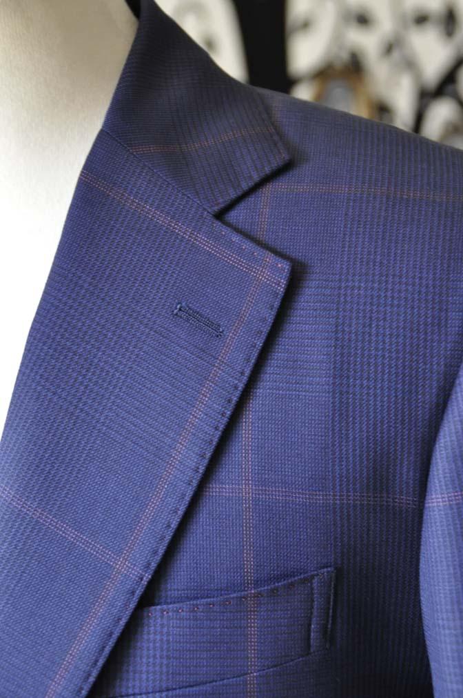 DSC0626-3 お客様のスーツの紹介-Biellesiネイビーチェックスーツ-