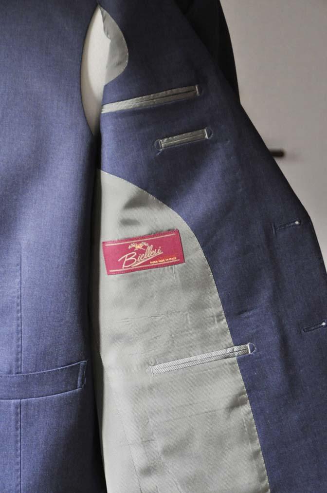 DSC0627-2 お客様のスーツの紹介- Biellesi ネイビースリーピース- 名古屋の完全予約制オーダースーツ専門店DEFFERT