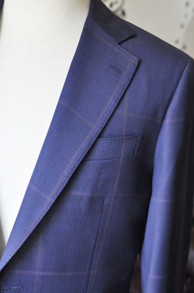 DSC0627-4 お客様のスーツの紹介-Biellesiネイビーチェックスーツ-