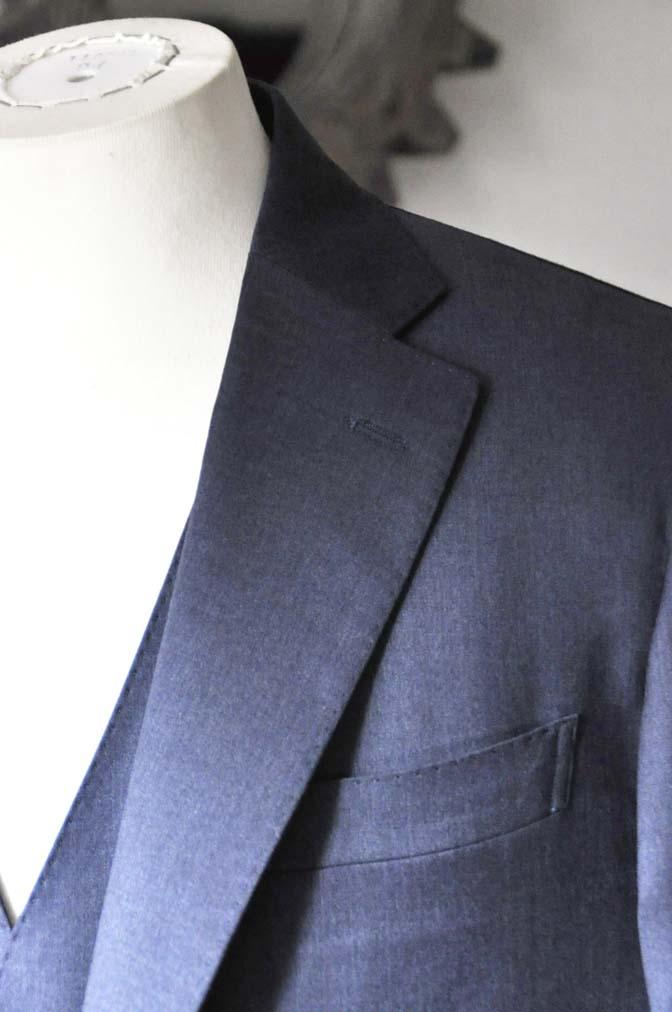 DSC0630-1 お客様のスーツの紹介- Biellesi ネイビースリーピース- 名古屋の完全予約制オーダースーツ専門店DEFFERT