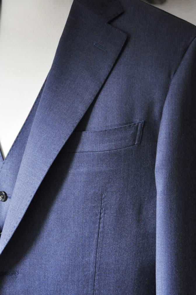 DSC0631-1 お客様のスーツの紹介- Biellesi ネイビースリーピース- 名古屋の完全予約制オーダースーツ専門店DEFFERT