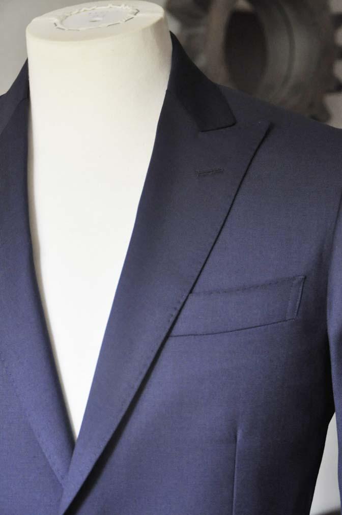 DSC0631-2 お客様のスーツの紹介- Biellesi 無地ネイビースーツ-
