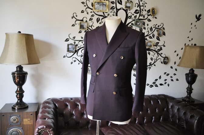 DSC0632-6 お客様のスーツの紹介-Biellesi無地ワインレッド ダブルスーツ-