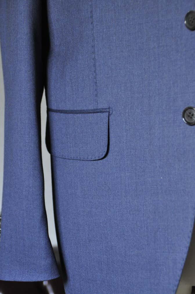 DSC0633-1 お客様のスーツの紹介- Biellesi ネイビースリーピース- 名古屋の完全予約制オーダースーツ専門店DEFFERT