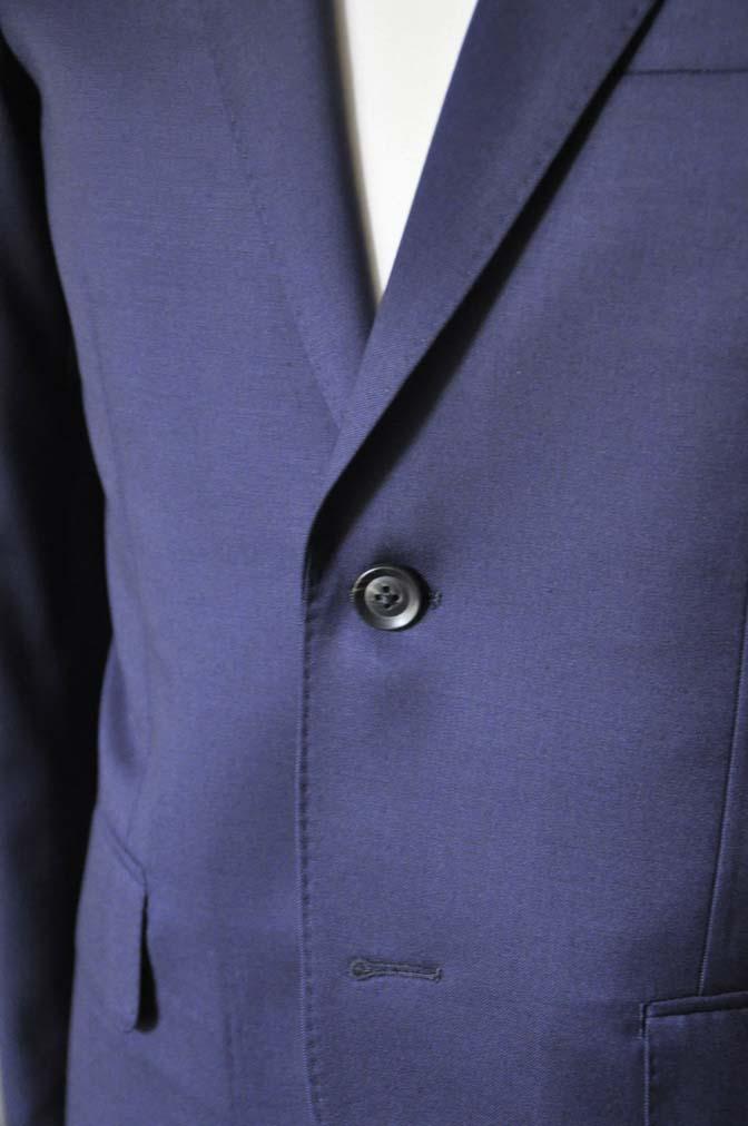 DSC0633-2 お客様のスーツの紹介- Biellesi 無地ネイビースーツ-