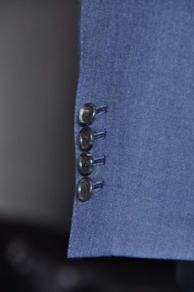 DSC0634-1 お客様のスーツの紹介- Biellesi ネイビースリーピース- 名古屋の完全予約制オーダースーツ専門店DEFFERT