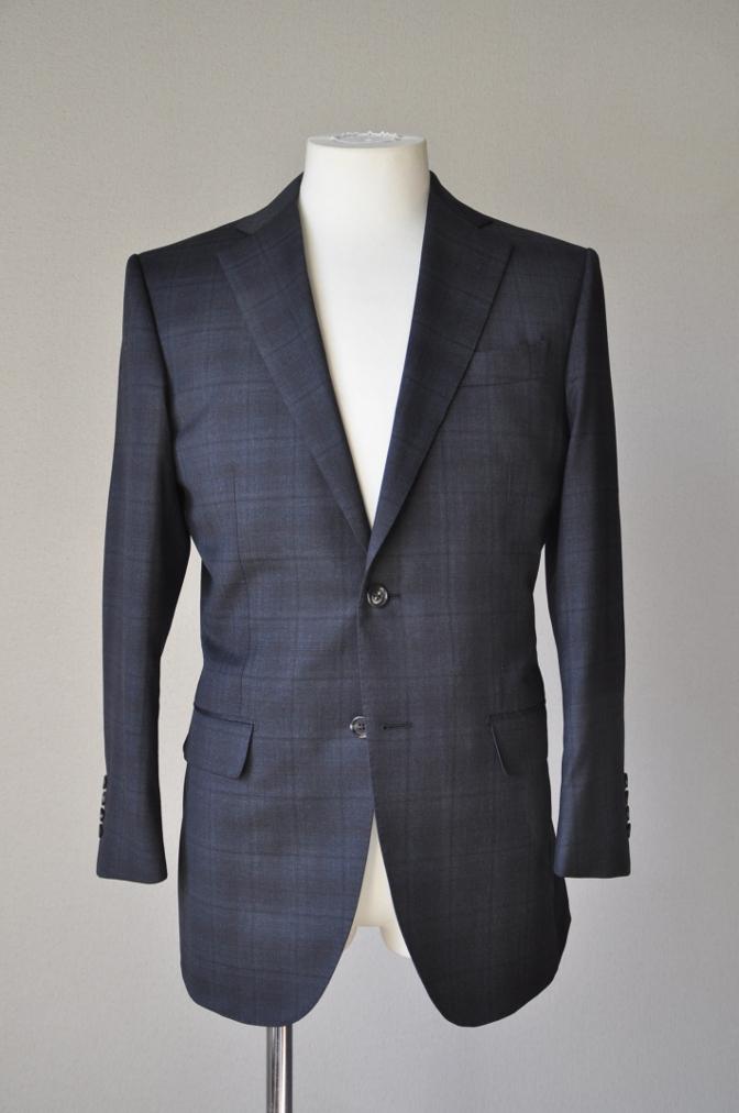 DSC0636 お客様のスーツの紹介-BIELLESI グレーチェックスーツ-