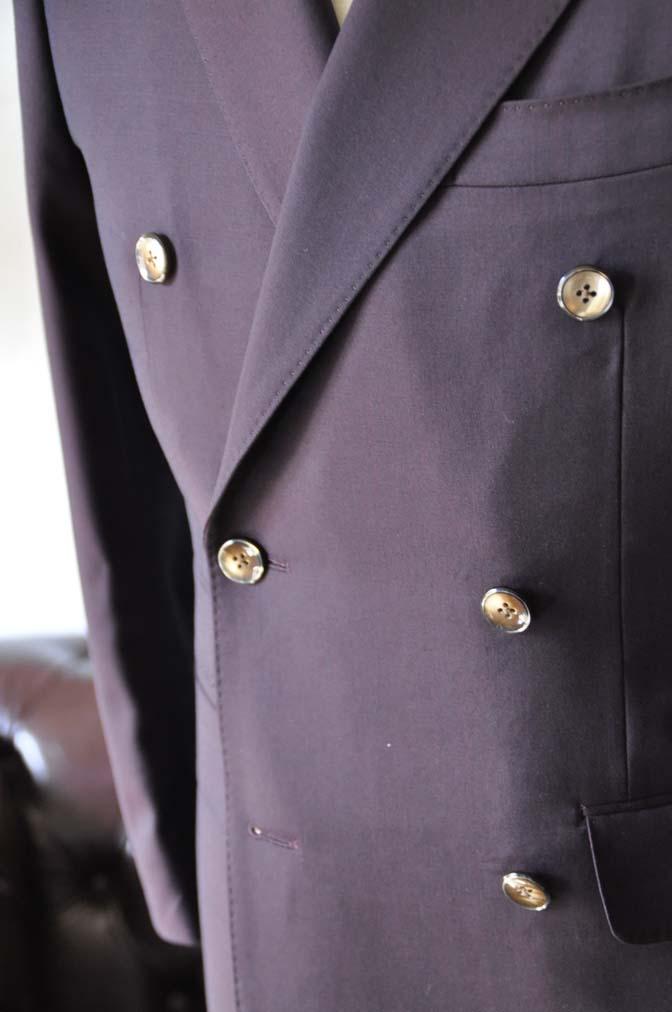 DSC0639-4 お客様のスーツの紹介-Biellesi無地ワインレッド ダブルスーツ-