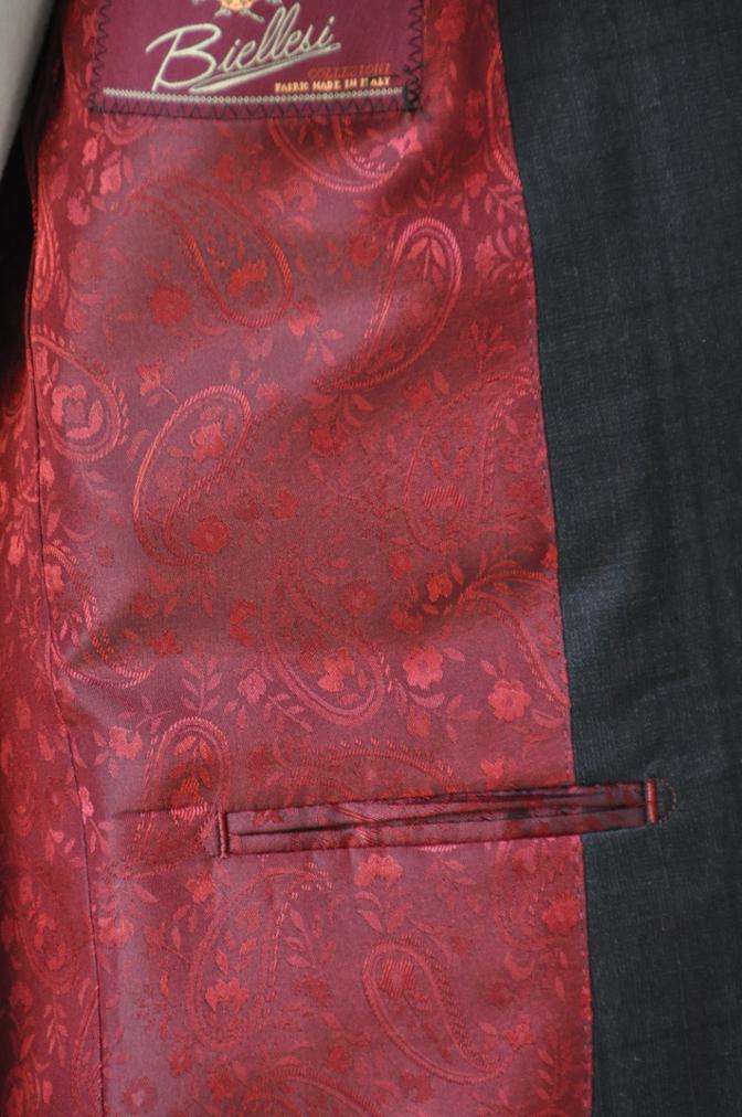 DSC06391 お客様のスーツの紹介-BIELLESI グレーチェックスーツ-