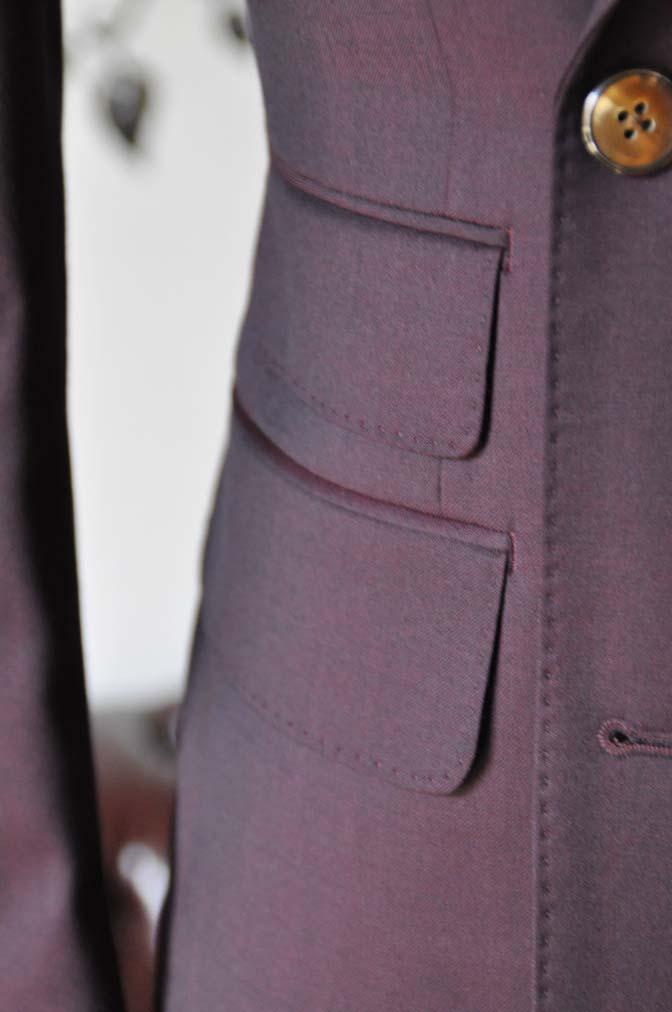 DSC0640-4 お客様のスーツの紹介-Biellesi無地ワインレッド ダブルスーツ-