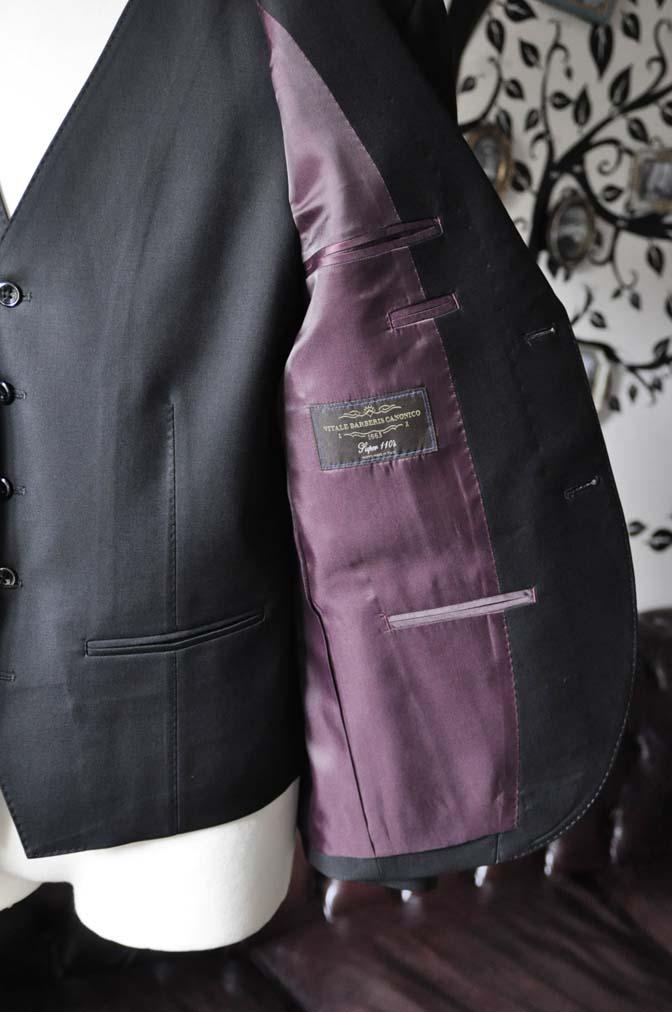 DSC0640-5 お客様のスーツの紹介-CANONICO 無地ブラック スリーピース-