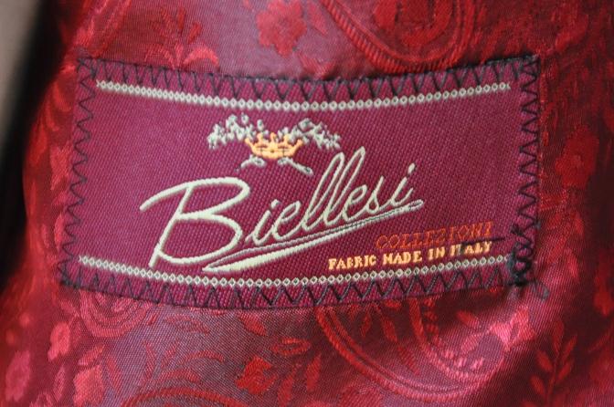 DSC06403 お客様のスーツの紹介-BIELLESI グレーチェックスーツ-