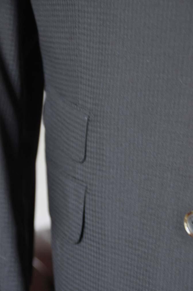DSC0643-1 お客様のスーツの紹介- CANONICOブラックチェック スリーピース- 名古屋の完全予約制オーダースーツ専門店DEFFERT