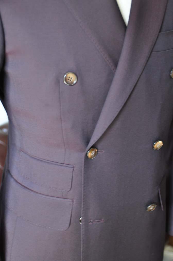 DSC0643-3 お客様のスーツの紹介-Biellesi無地ワインレッド ダブルスーツ-