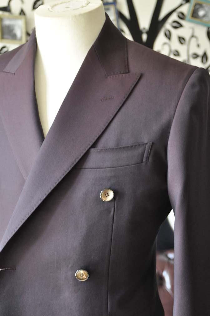 DSC0645-5 お客様のスーツの紹介-Biellesi無地ワインレッド ダブルスーツ-