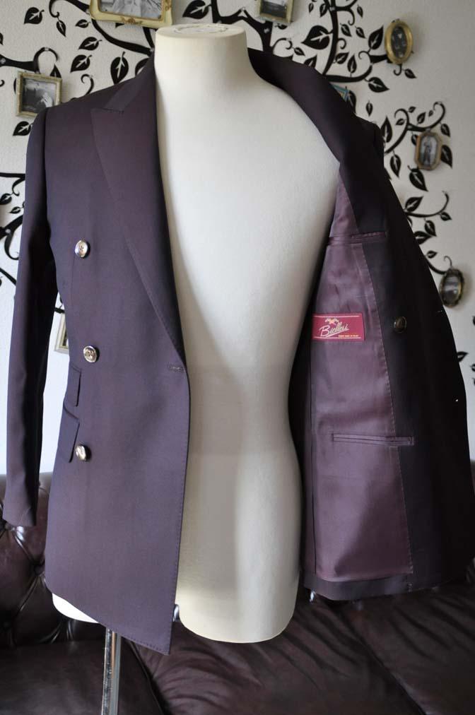 DSC0646-2 お客様のスーツの紹介-Biellesi無地ワインレッド ダブルスーツ-