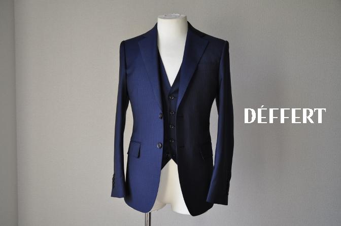 DSC06485 お客様のスーツの紹介-ネイビーストライプ スリーピース-
