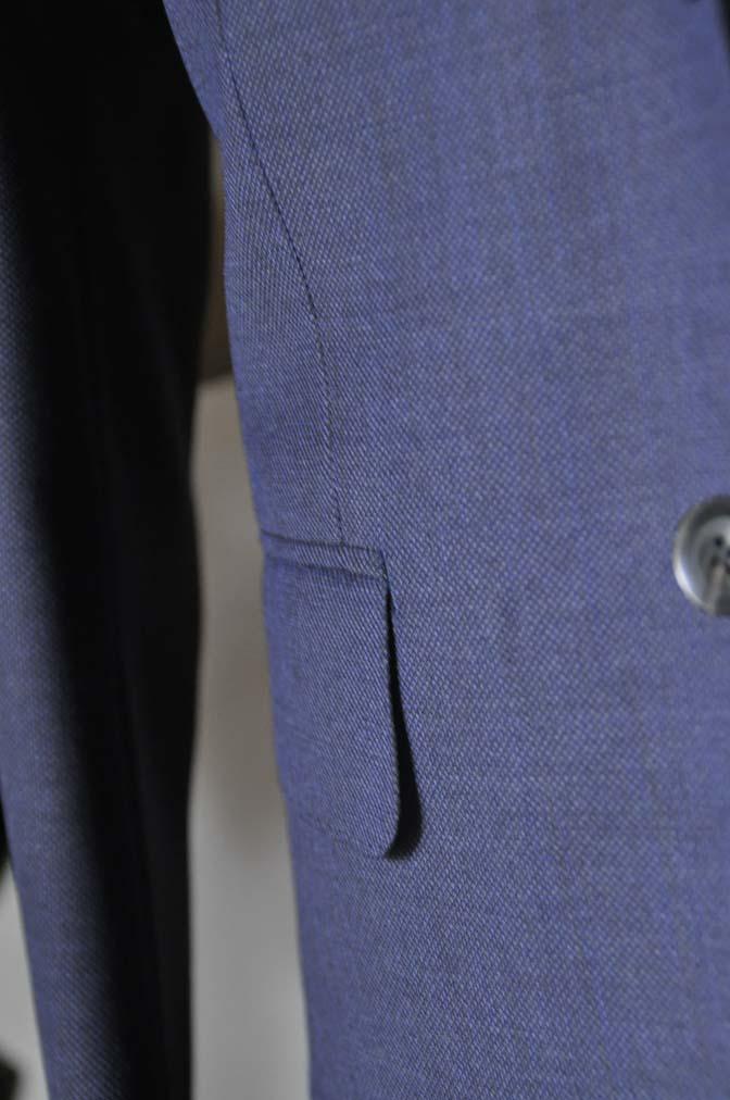DSC0649-2 お客様のウエディング衣装の紹介-Biellesi ネイビーバーズアイスーツ グレーグレンチェックベスト- 名古屋の完全予約制オーダースーツ専門店DEFFERT