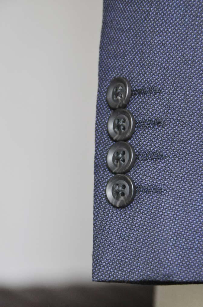DSC0651-1 お客様のウエディング衣装の紹介-Biellesi ネイビーバーズアイスーツ グレーグレンチェックベスト- 名古屋の完全予約制オーダースーツ専門店DEFFERT