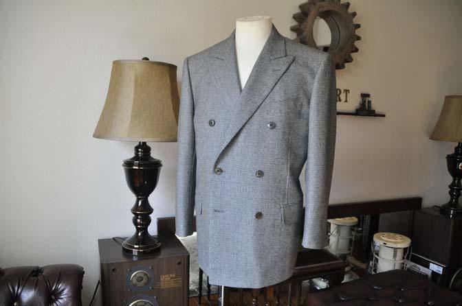 DSC0652-3 お客様のスーツの紹介-御幸毛織Napolena グレンチェック ダブルスーツ-