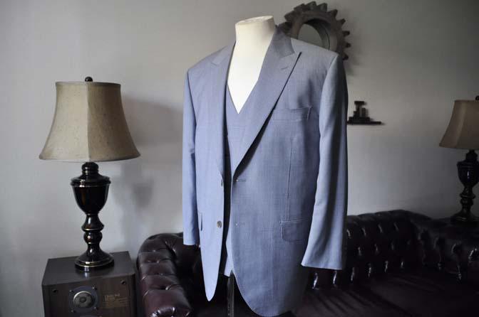 DSC0653-1 お客様のスーツの紹介- Biellesi ネイビ千鳥格子スリーピース-
