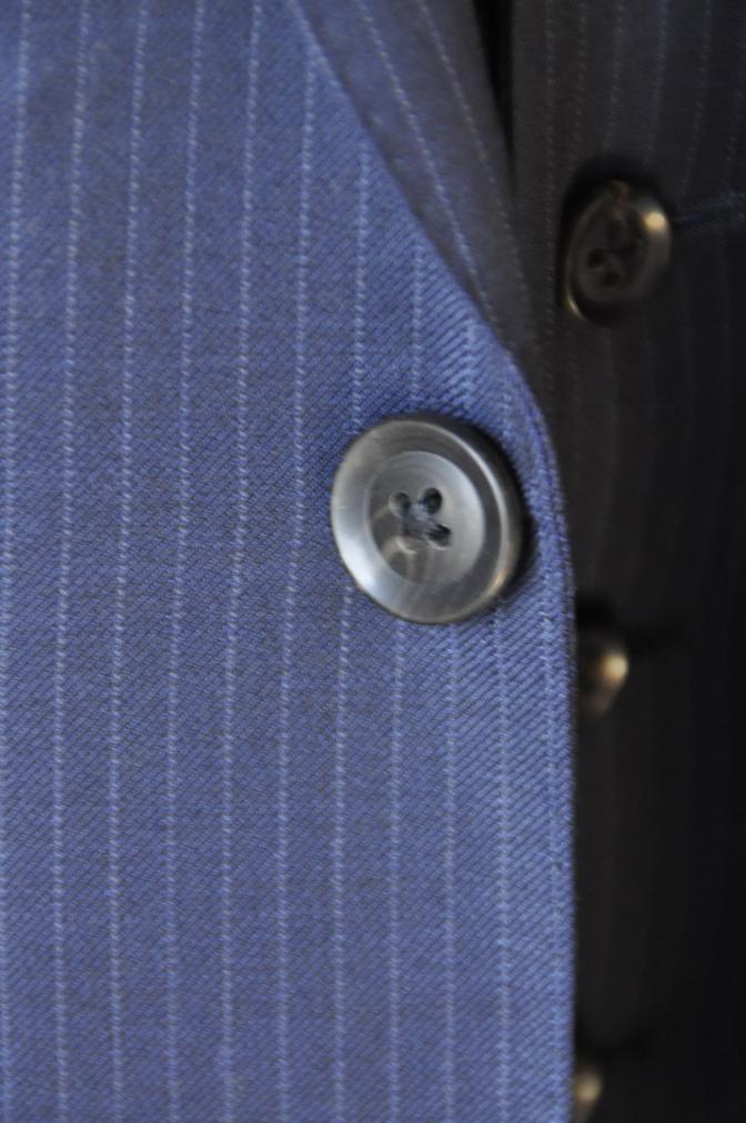 DSC06532 お客様のスーツの紹介-ネイビーストライプ スリーピース-
