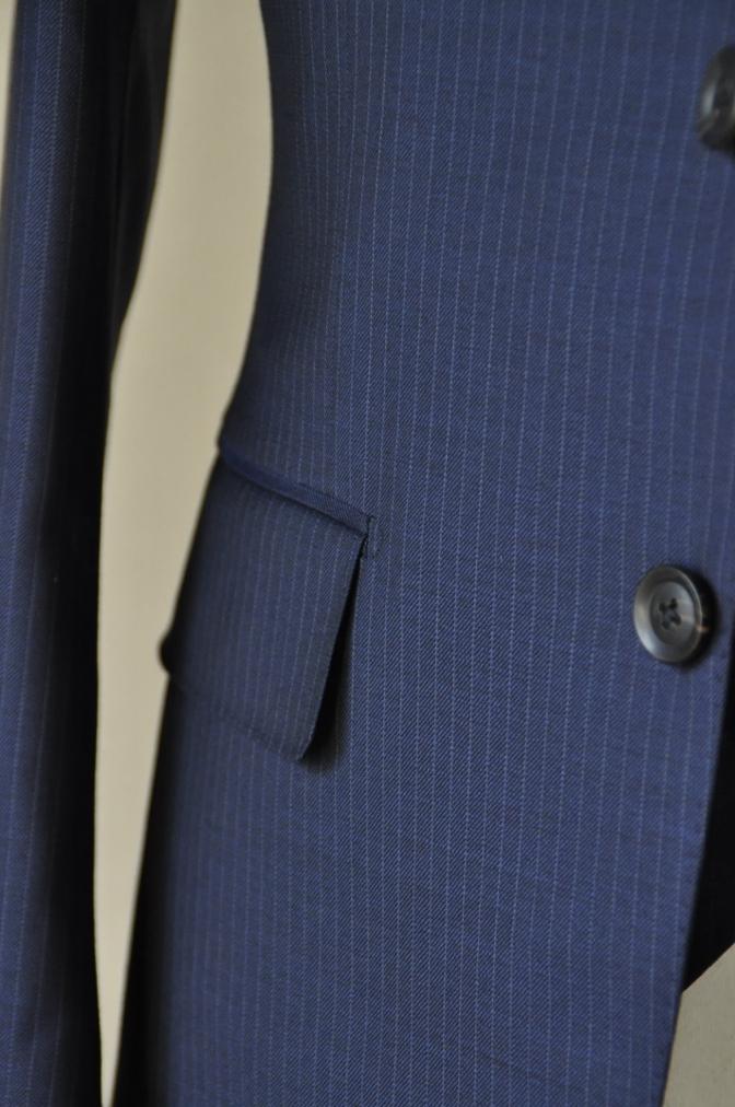 DSC06541 お客様のスーツの紹介-ネイビーストライプ スリーピース-