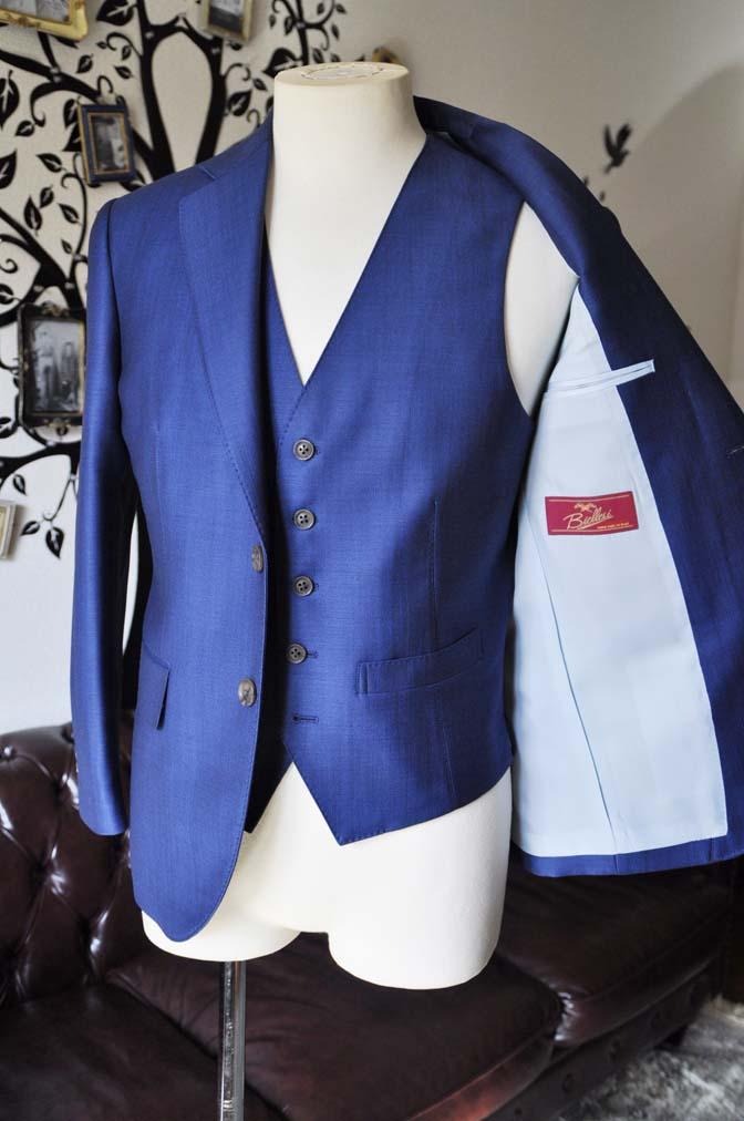 DSC0655-3 お客様のスーツの紹介-Biellesiネイビーバーズアイ  スリーピーススーツ-