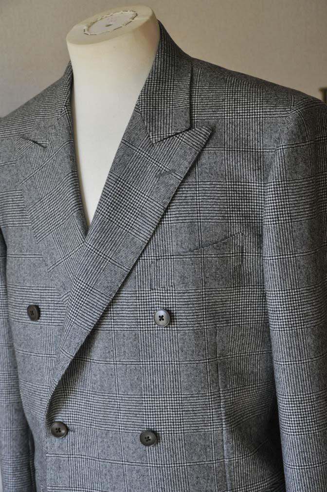DSC0656-2 お客様のスーツの紹介-御幸毛織Napolena グレンチェック ダブルスーツ-