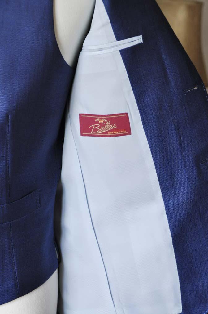 DSC0656-3 お客様のスーツの紹介-Biellesiネイビーバーズアイ  スリーピーススーツ-