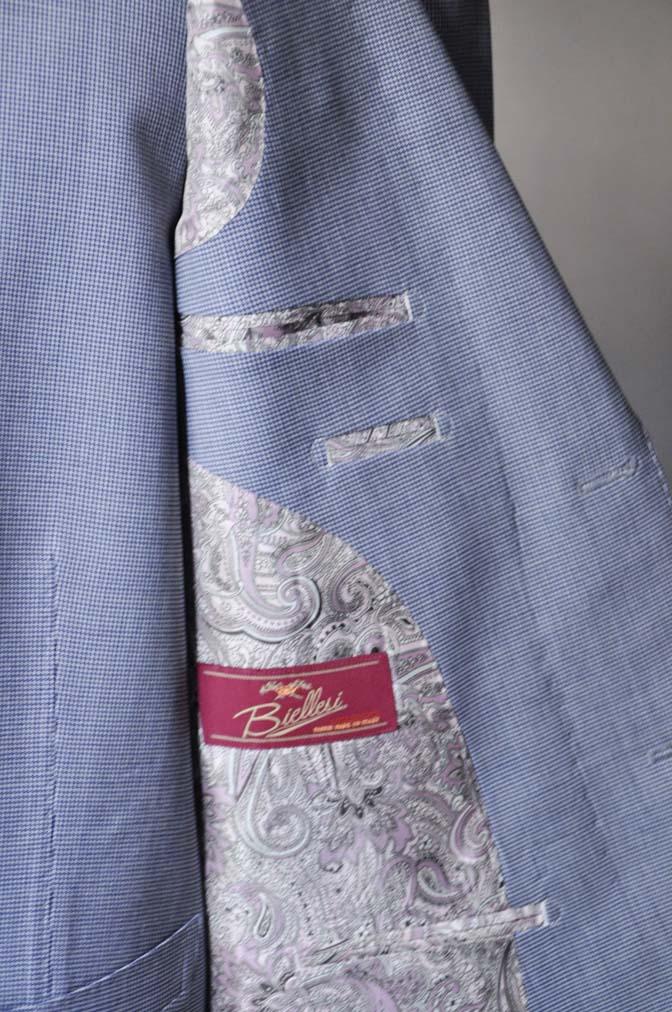DSC0657-2 お客様のスーツの紹介- Biellesi ネイビ千鳥格子スリーピース-