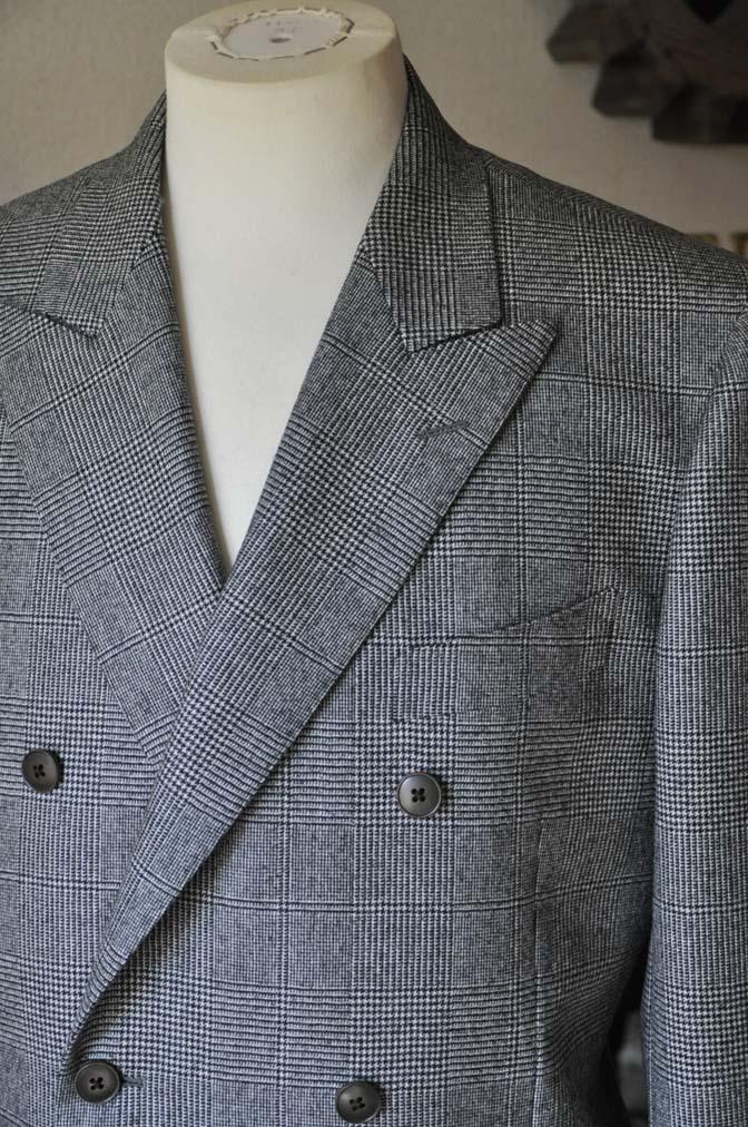 DSC0657-4 お客様のスーツの紹介-御幸毛織Napolena グレンチェック ダブルスーツ-