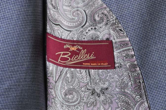 DSC0658-1 お客様のスーツの紹介- Biellesi ネイビ千鳥格子スリーピース-