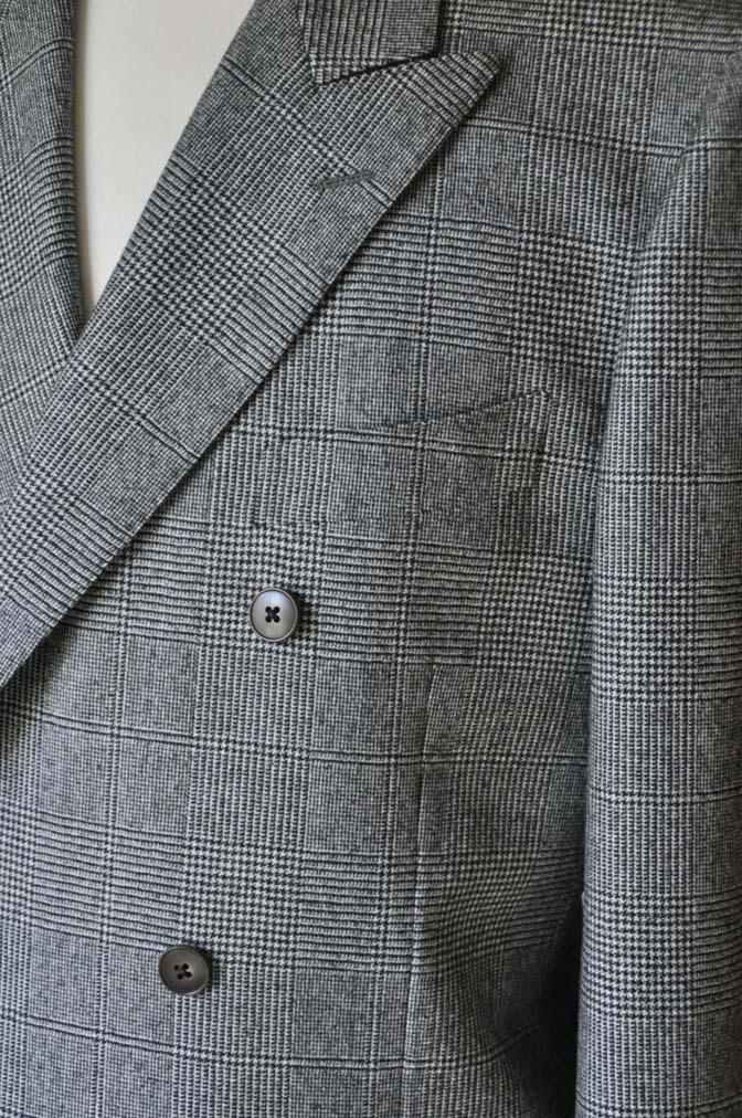 DSC0658-5 お客様のスーツの紹介-御幸毛織Napolena グレンチェック ダブルスーツ-