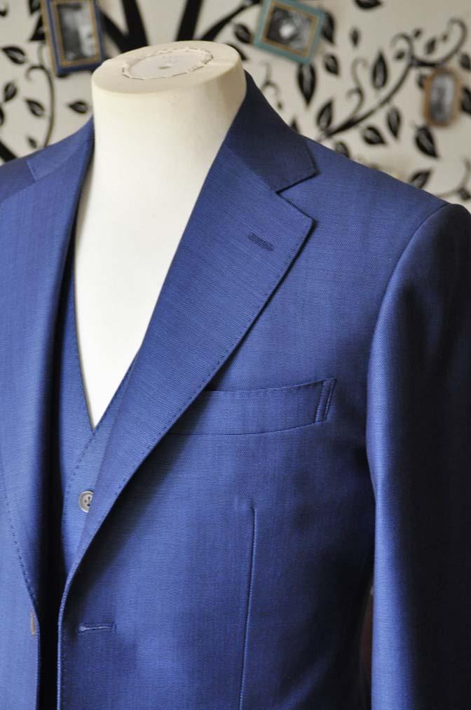 DSC0658-6 お客様のスーツの紹介-Biellesiネイビーバーズアイ  スリーピーススーツ-