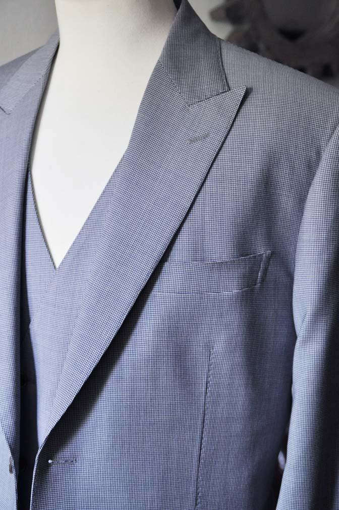 DSC0659-2 お客様のスーツの紹介- Biellesi ネイビ千鳥格子スリーピース-