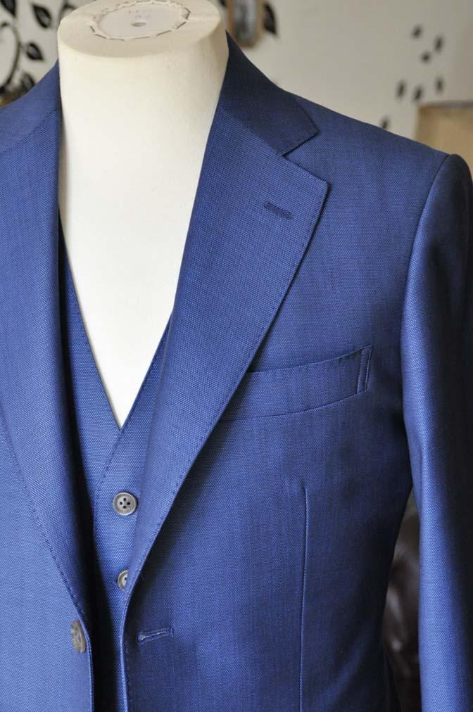 DSC0659-5 お客様のスーツの紹介-Biellesiネイビーバーズアイ  スリーピーススーツ-