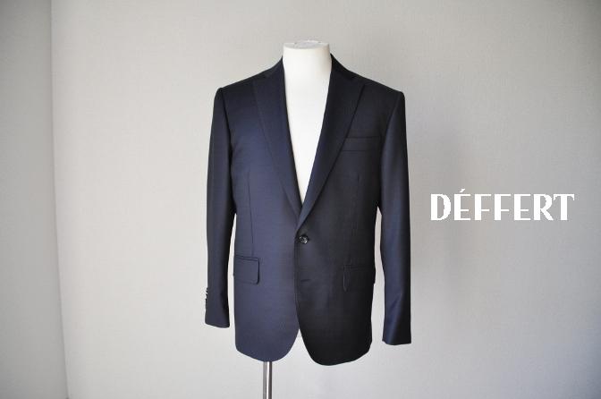 DSC06592 お客様のスーツの紹介-DORMEUIL AMADEUS ネイビースーツ-