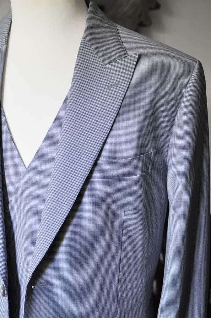 DSC0660-2 お客様のスーツの紹介- Biellesi ネイビ千鳥格子スリーピース-