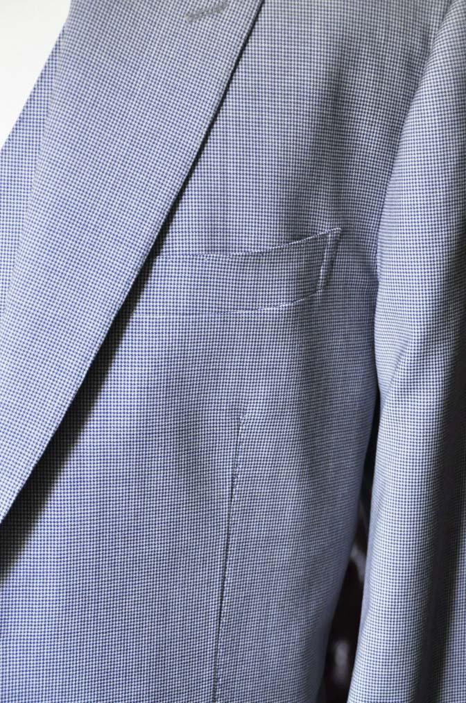 DSC0661-2 お客様のスーツの紹介- Biellesi ネイビ千鳥格子スリーピース-