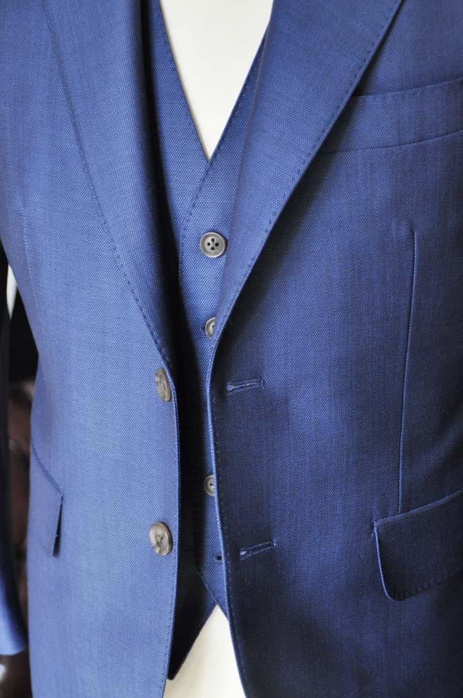 DSC0661-4 お客様のスーツの紹介-Biellesiネイビーバーズアイ  スリーピーススーツ-