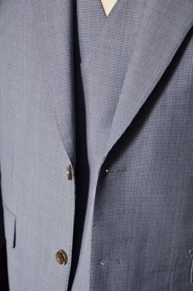 DSC0662-2 お客様のスーツの紹介- Biellesi ネイビ千鳥格子スリーピース-
