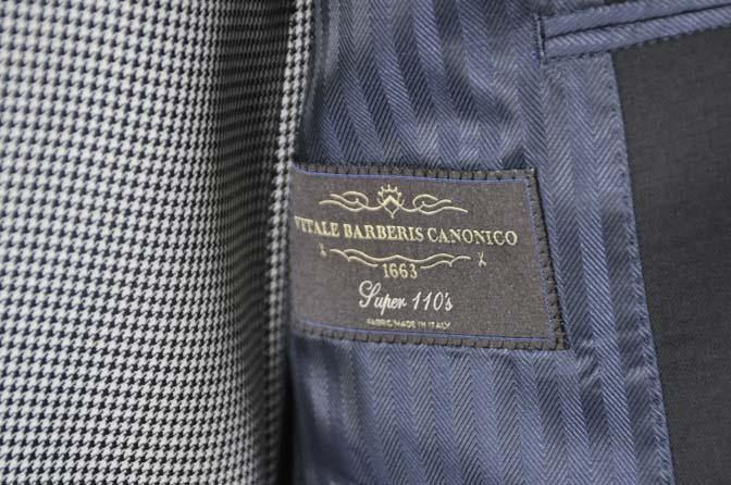 DSC0662-3 お客様のウエディング衣装の紹介-CANONICO ブラックスーツ 千鳥格子襟付きダブルベスト-