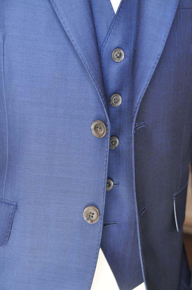 DSC0662-4 お客様のスーツの紹介-Biellesiネイビーバーズアイ  スリーピーススーツ-