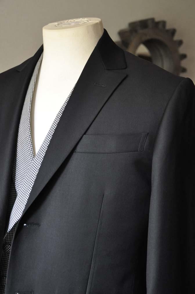 DSC0663-1 お客様のウエディング衣装の紹介-CANONICO ブラックスーツ 千鳥格子襟付きダブルベスト-
