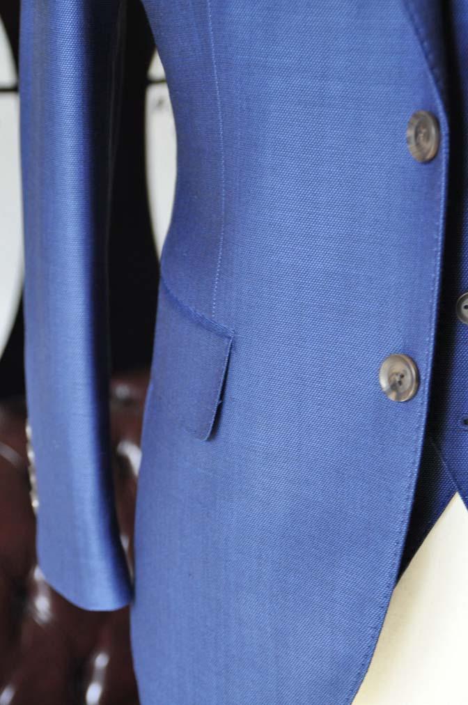 DSC0663-2 お客様のスーツの紹介-Biellesiネイビーバーズアイ  スリーピーススーツ-