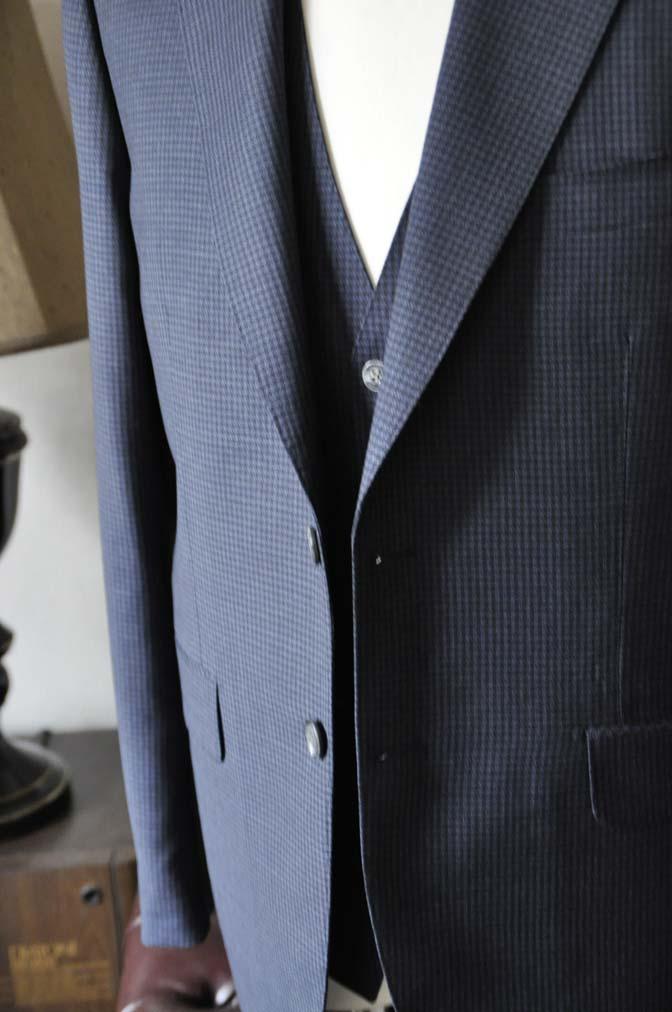 DSC0664-5 お客様のスーツの紹介-Biellesiネイビー千鳥格子スリーピース-